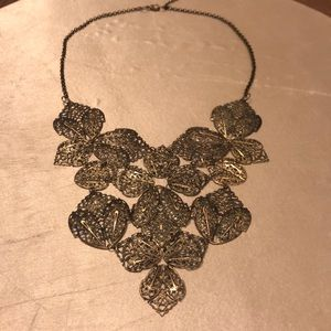 Metal Bib Necklace
